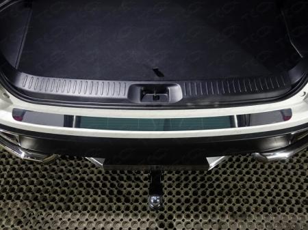 Toyota Highlander 2017-Накладка на задний бампер (лист зеркальный)